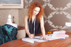 Fashion designer at work Stock Image