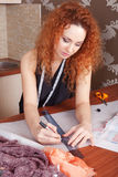 Fashion designer at work Royalty Free Stock Images