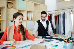 Fashion designer at work Stock Photos