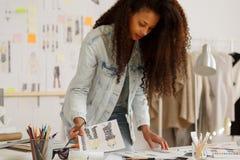 Fashion designer during work Stock Images