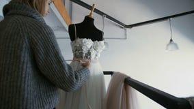 Fashion Designer at Work in Studio stock video footage