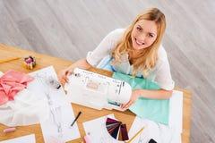 Fashion designer at work. royalty free stock image