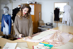 Fashion designer working Royalty Free Stock Photography