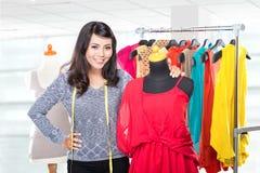 Fashion designer working on draft Royalty Free Stock Photo