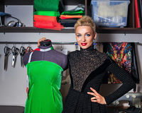 Fashion designer working with dummy Royalty Free Stock Photography