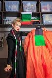 Fashion designer working with dummy Royalty Free Stock Photos