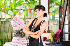 Fashion designer working at home Stock Photos