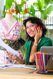 Fashion designer working at home Stock Photo