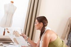 Fashion designer working at studio Royalty Free Stock Photography