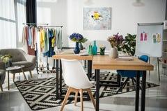 Fashion designer workplace stock photo