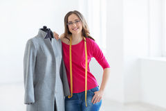 Fashion designer. Young fashion designer in the studio Stock Photo