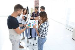 Fashion designers discussing color palette in the Studio. Photo with copy space stock photo