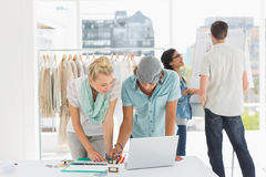 Fashion designers at work Royalty Free Stock Image