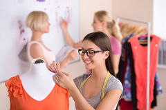 Fashion designers at work. Royalty Free Stock Photos