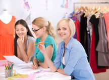 Fashion designers at work Royalty Free Stock Photo