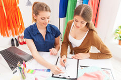 Fashion designers at work. Royalty Free Stock Image