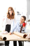 Fashion designers working together Stock Photo