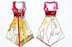 Fashion designs. Watecolor designs studio Stock Photo