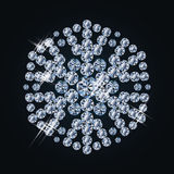 Fashion  diamond snowflake Stock Image