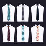 Fashion of different Neckties Stock Photos
