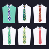 Fashion of different Neckties Royalty Free Stock Images