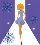 Fashion diva royalty free illustration