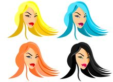 Fashion Doll Faces Royalty Free Stock Images