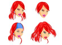 Fashion Doll Hairdressing Royalty Free Stock Image