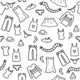 Fashion doodle Stock Images