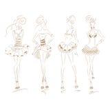 Fashion Dress Beige Set 210 Stock Photography
