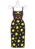 Fashion dress for a girl vector illustration Royalty Free Stock Photos