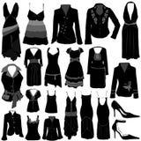 Fashion dress vector. Set of fashion dress vector Stock Photography