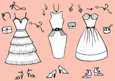 Fashion Dresses And Accessories Stock Images