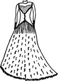 Fashion dresses sketches Stock Photo
