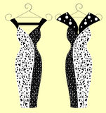 Fashion dresses for women  illustrations Royalty Free Stock Photos