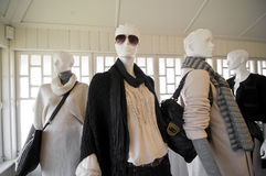 Fashion dummies. Mannequins showing the latest fashions Stock Photos