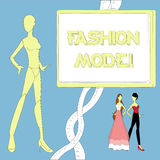 Fashion dummy Model. For design Royalty Free Stock Image