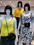 Fashion dummy - seasonal clothing for women stock images
