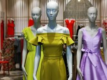Fashion dummy - seasonal clothing for women stock photography