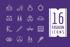 Fashion e-commerce vector icons set. Shopping Stock Photos