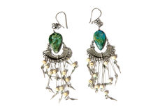 Fashion earrings Stock Image