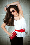 Fashion Eighties Model Royalty Free Stock Photos