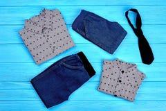 Fashion elegant clothes set for little boys. Stock Images