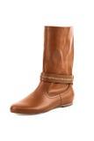 Fashion elegant female boots isolated Stock Photo