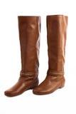 Fashion elegant women`s boots isolated Stock Photography