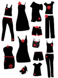 Fashion elements. Vector illustration of fashion elements for woman Stock Images