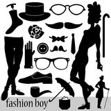 Fashion elements for boys Royalty Free Stock Photos