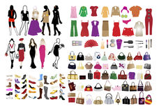 Fashion Elements For Women Stock Photography