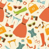 Fashion elements seamless pattern Royalty Free Stock Image
