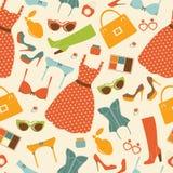 Fashion elements seamless pattern Royalty Free Stock Image